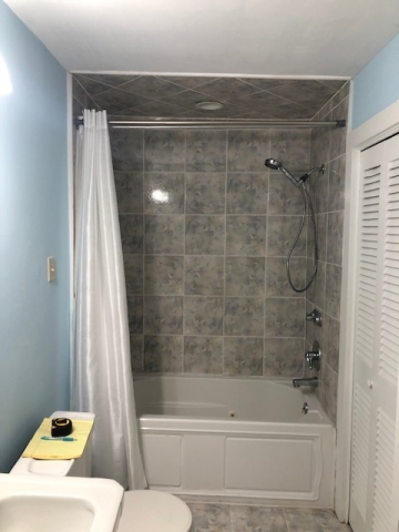 shower tile renovation