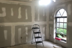 living room drywall repair